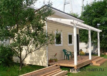 Проект садового домика эконом класса