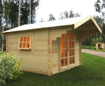 недорогой садовый домик из бруса
