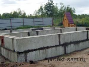 сборный ленточный фундамент из стеновых блоков