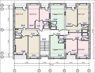 секционная планировка дома