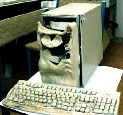 компьютер сгорел