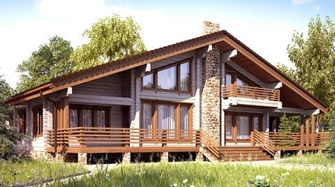 деревянный дом шале