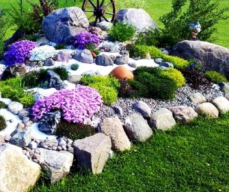 Садовые клумбы из камней своими руками