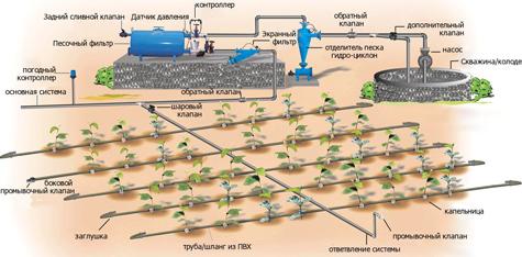 система автоматического полива дачи