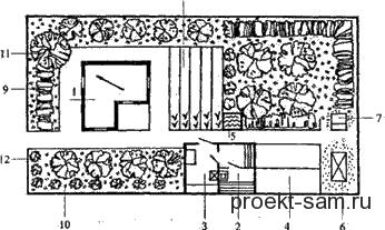 схема расположения летнего домика на участке