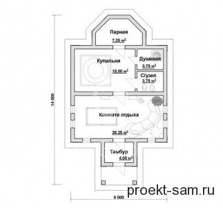 планировка турецкой бани хаммам