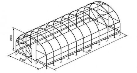 схема установки зимней теплицы