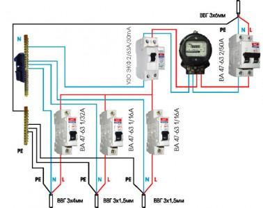 схема внешнего электроснабжения дома
