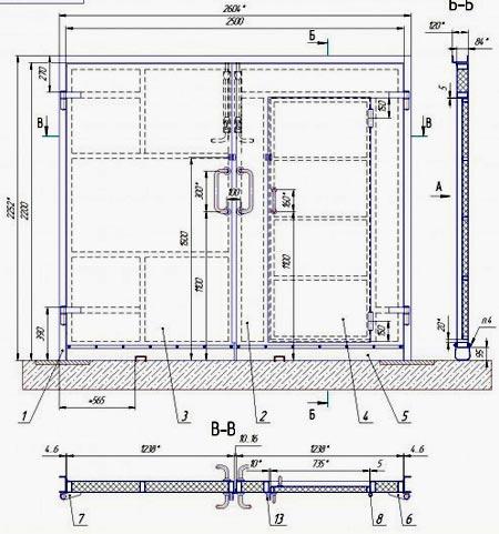 схема ворота калитка