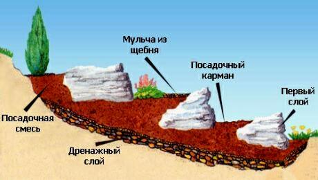 устройство альпийской горки