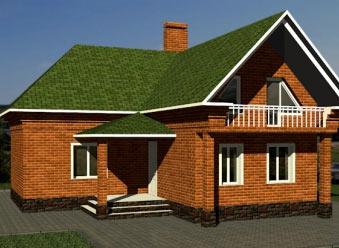 щитовой угловой дом