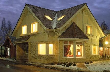 щитовой двухэтажный дом