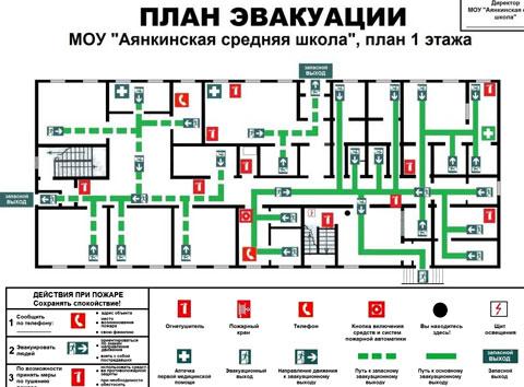 план эвакуации школы