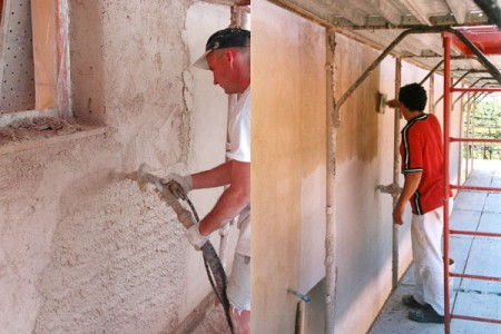 штукатурка стен из соломы