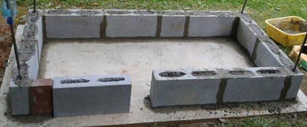 кладка блоков
