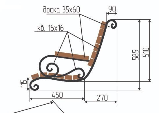 скамейка в профиле