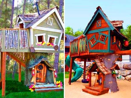 сказочный домик из дерева
