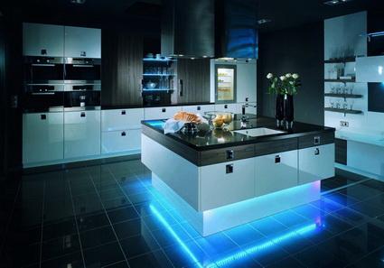 скрытый свет на кухне