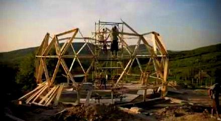 сооружение сферического каркаса