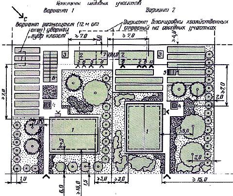 схемы планировки дачного участка 10 соток схемы