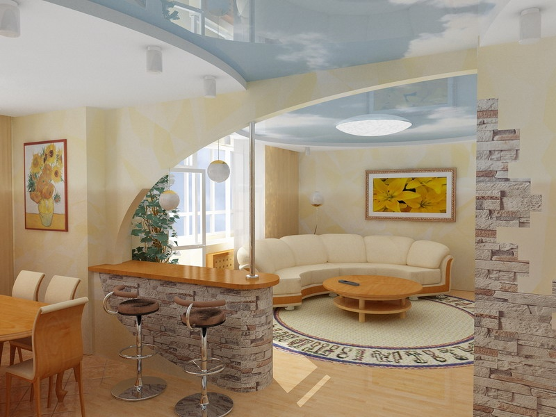 Дизайн кухни и гостиной своими руками
