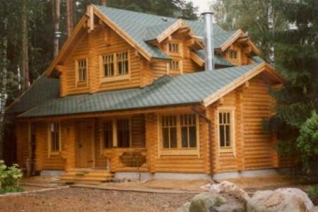 деревянный дом в стиле русской избы