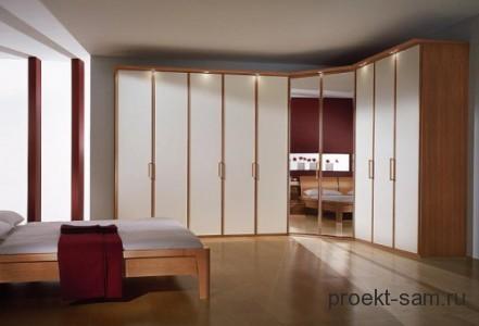 спальня со встроенным шкафом