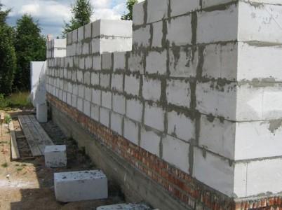 стена дома из сибита