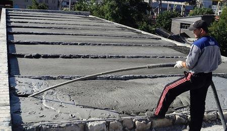 стяжка на крыше