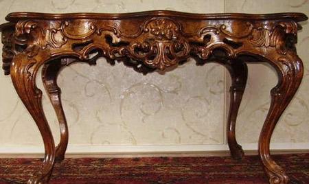 резной стол барокко