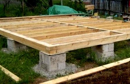блоковый столбчатый фундамент