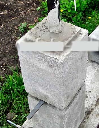 установка столбового блока
