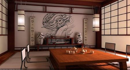 столик в японском доме