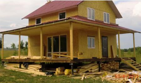 строительство щитового дома