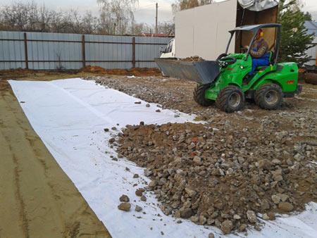 строительство парковки на даче