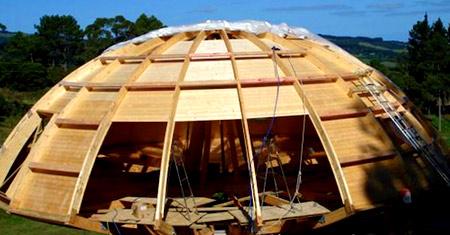 строительство круглого дома