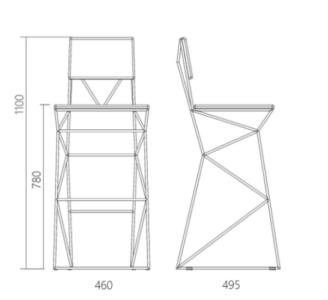 стул с поддержкой спины