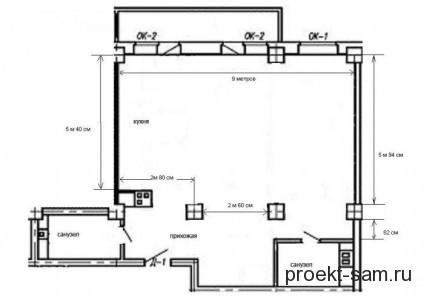 свободная планировка двухкомнатной квартиры