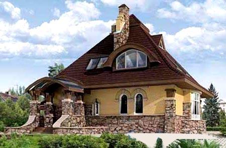 коттедж с вальмовой крышей