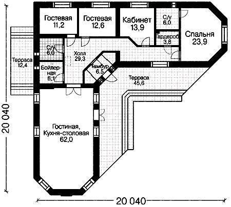 г образные проекты домов фото