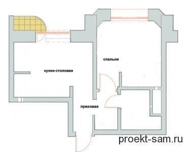 типовая планировка 1 комнатной квартиры