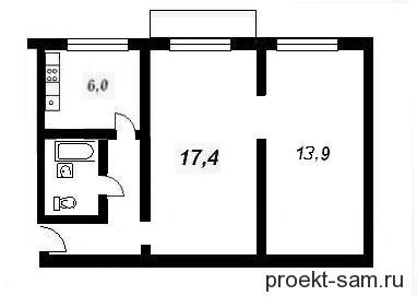 типовая планировка двухкомнатной квартиры в панельной хрущевке