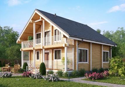типовой проект деревянного двухэтажного дома