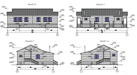 типовой проект прямоугольного дома