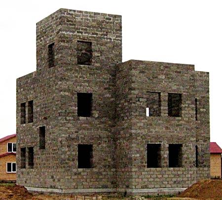 трехэтажный дом из опилкобетона