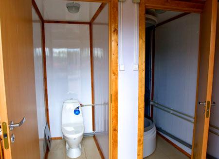туалет в бытовке