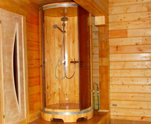 деревянная душевая