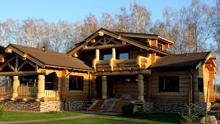 деревянный угловой дом