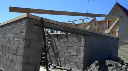 Как сделать крышу дома своими руками односкатную