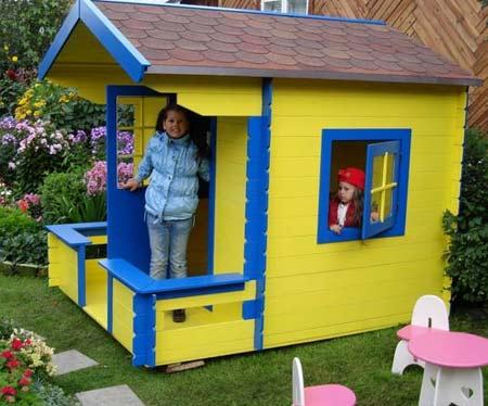 Детский домик своими руками на улице